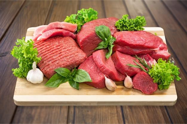 Fundo de carne crua fresca no fundo