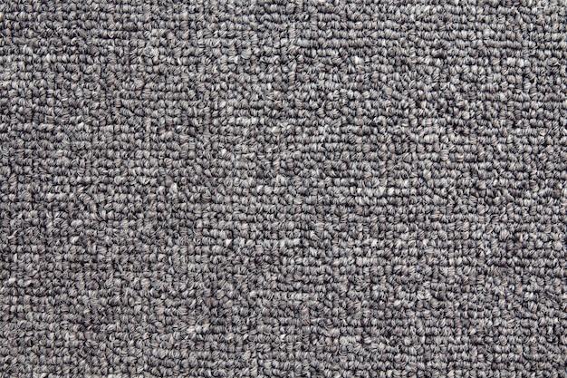 Fundo de carpete cinza, textura de tecido