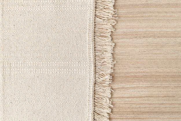 Fundo de carpete tecido branco no chão