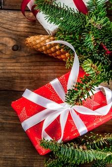 Fundo de cartão festivo de natal