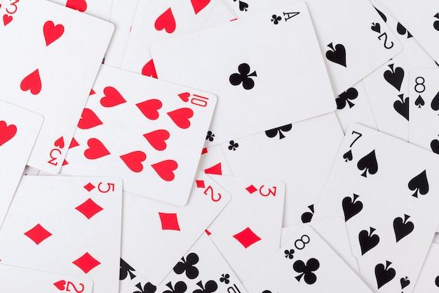 Fundo de cartas de jogar