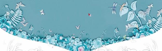 Fundo de cartaz criativo de flor tridimensional
