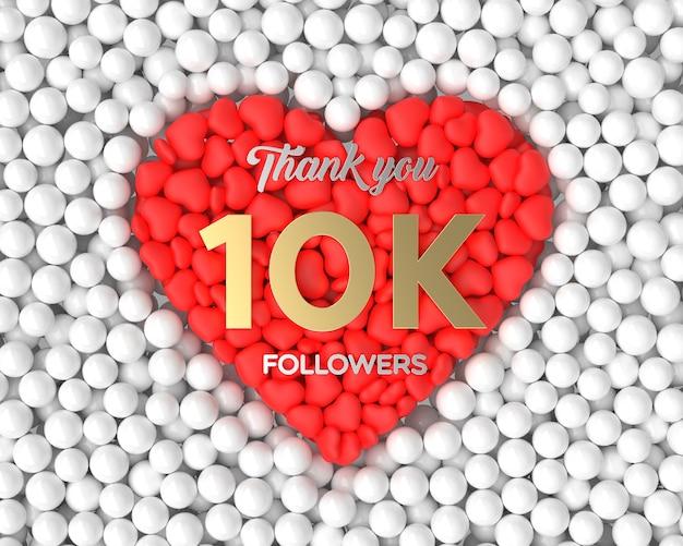 Fundo de celebração do seguidor 3d 10k