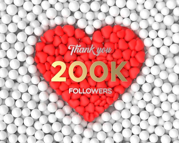 Fundo de celebração do seguidor 3d 200k