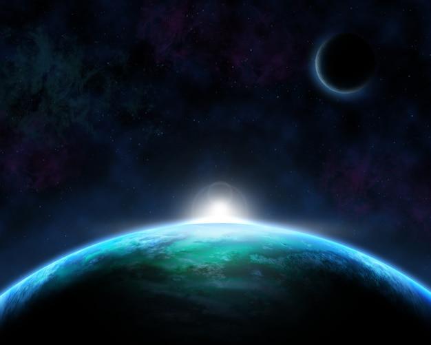 Fundo de cena espacial
