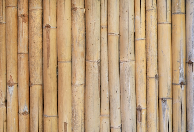 Fundo de cerca de bambu vertical.