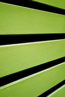 Fundo de cerca de madeira horizontal colorido de verde limão