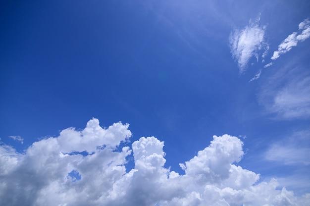 Fundo de céu e nuvens durante o dia