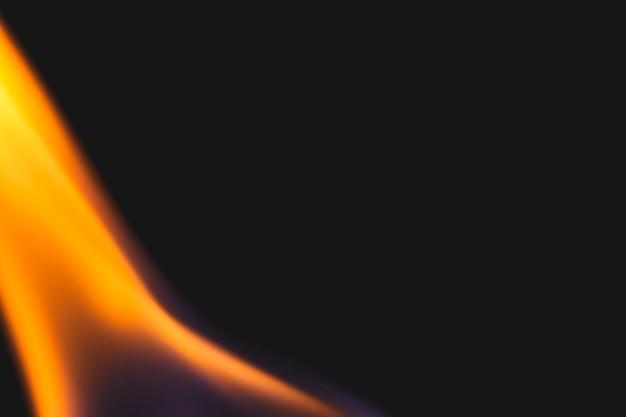 Fundo de chama ardente, imagem realista de borda de fogo