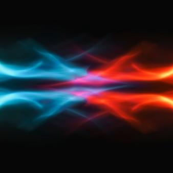 Fundo de chama azul, imagem fantasia de fogo de néon