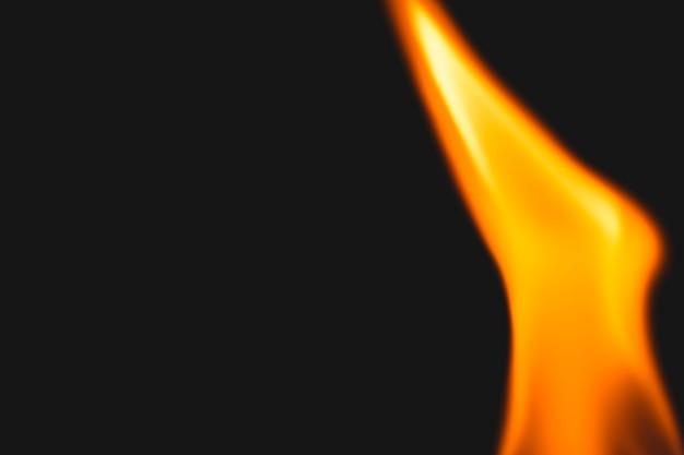 Fundo de chama negra, imagem realista de borda de fogo