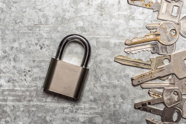 Fundo de chaves antigas
