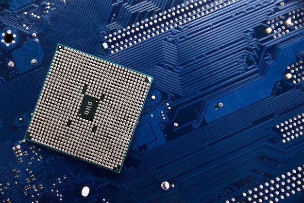 Fundo de chip digital da placa-mãe.