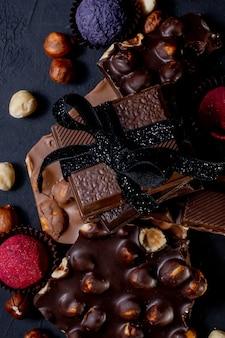 Fundo de chocolates