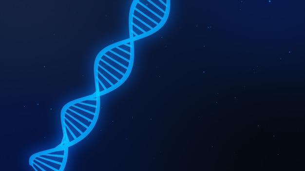 Fundo de ciência com moléculas de dna. ilustração 3d