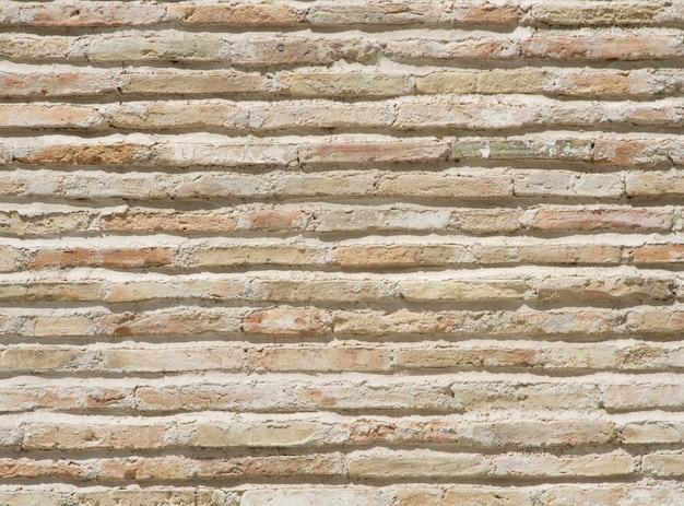 Fundo de cimento e tijolos danificados