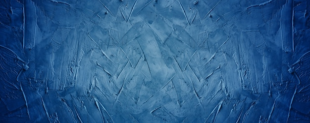 Fundo de cimento ou parede de concreto com textura grunge azul escuro