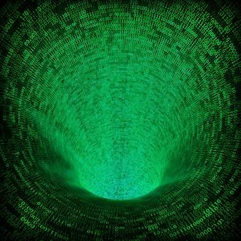 Fundo de código binário 3d