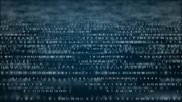 Fundo de código binário de tecnologia abstrata