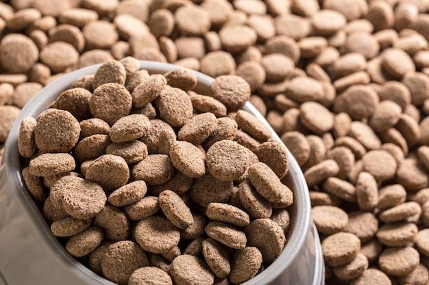 Fundo de comida de cachorro seco