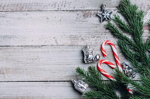Fundo de composição de férias de natal.