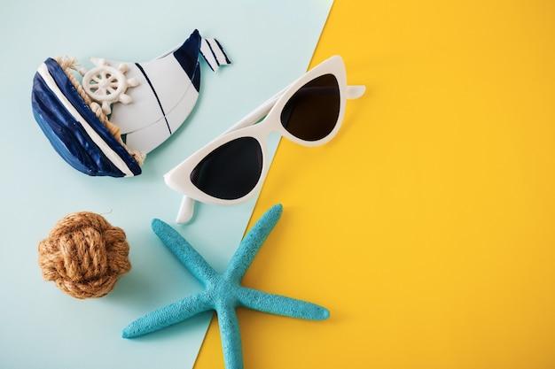 Fundo de conceito de viagens de férias de verão
