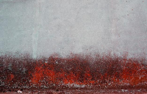 Fundo de concreto grunge cinza e vermelho