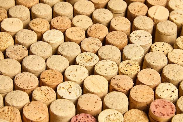 Fundo de conjunto de rolhas de garrafa de vinho