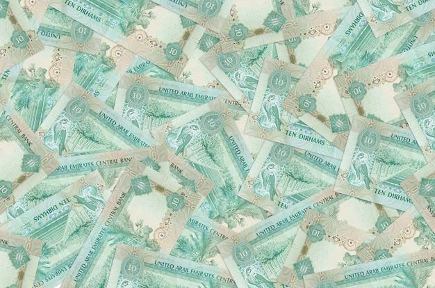 Fundo de contas dirhams dos emirados árabes unidos