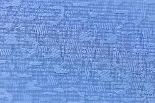 Fundo de cor azul de textura de tecido closeup