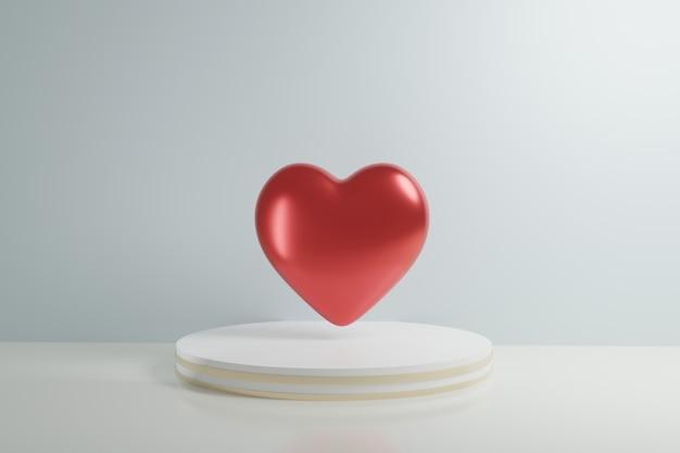Fundo de coração dia dos namorados coração dia cartão layout simples elementos de design minimalista geométricos