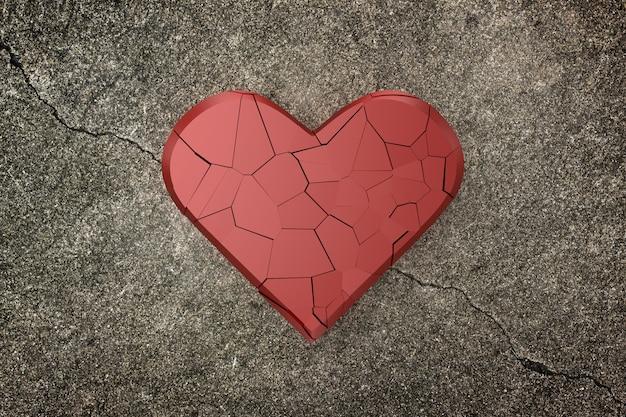 Fundo de coração partido