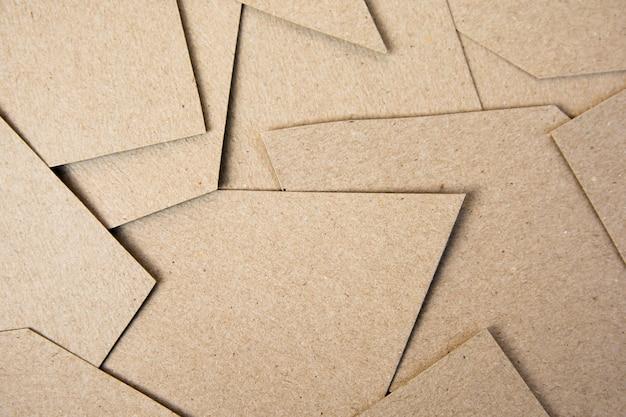 Fundo de corte de papel marrom. fundo de material
