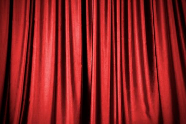 Fundo de cortina de palco vermelho