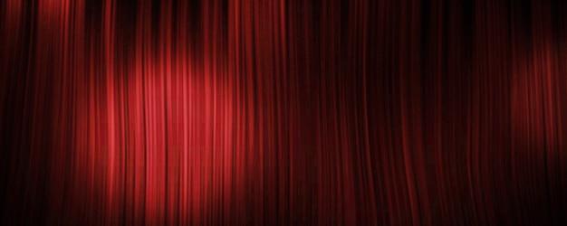 Fundo de cortina vermelha com holofote