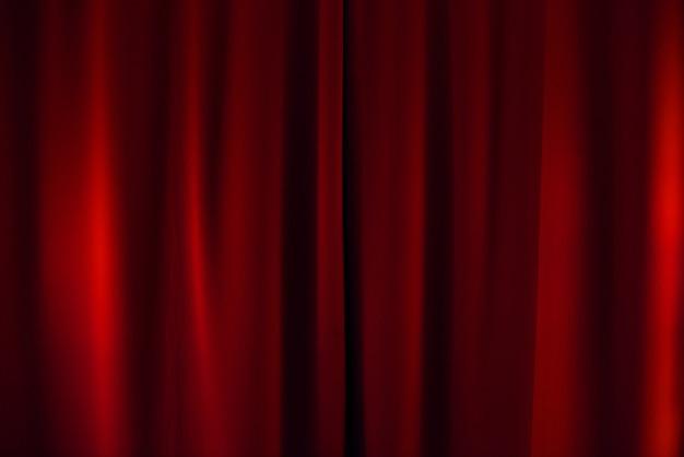 Fundo de cortina vermelha de teatro