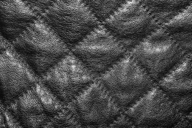 Fundo de couro acolchoado preto