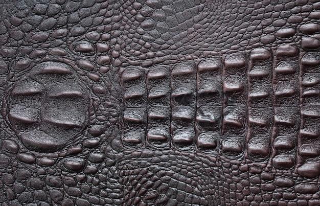 Fundo de couro com textura de crocodilo Foto Premium