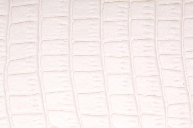 Fundo de couro natural branco. macros