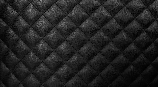 Fundo de couro preto, textura de pele closeup