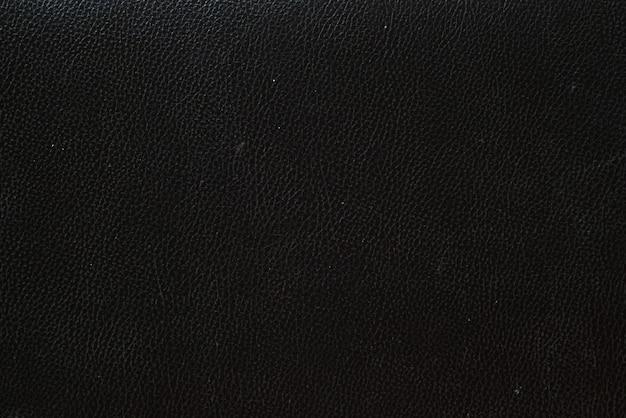 Fundo de couro preto, textura de pele de couro Foto Premium