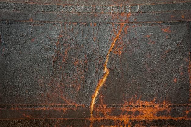 Fundo de couro velho antigo escuro. grandes detalhes de textura