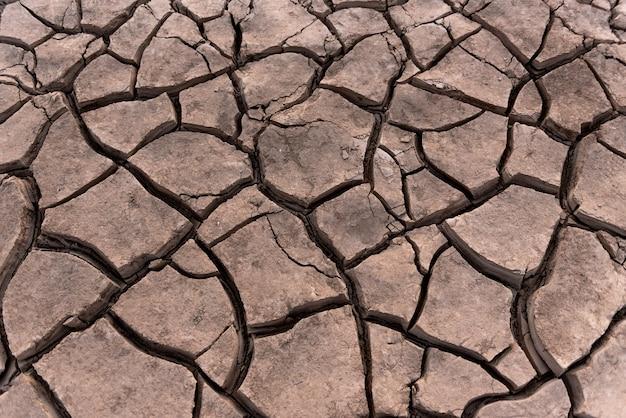 Fundo de crack de solo seco