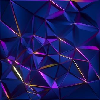 Fundo de cristal facetado abstrato com textura azul iridescente