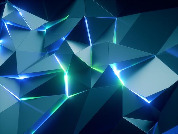Fundo de cristal facetado abstrato