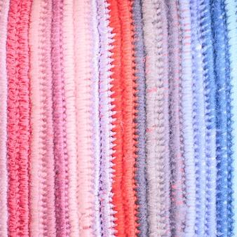 Fundo de crochê com cores diferentes, design vintage