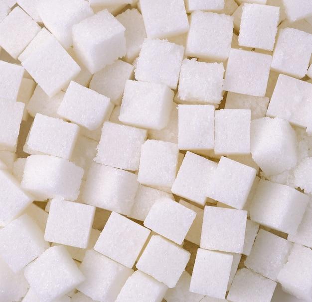 Fundo de cubos de açúcar refinado