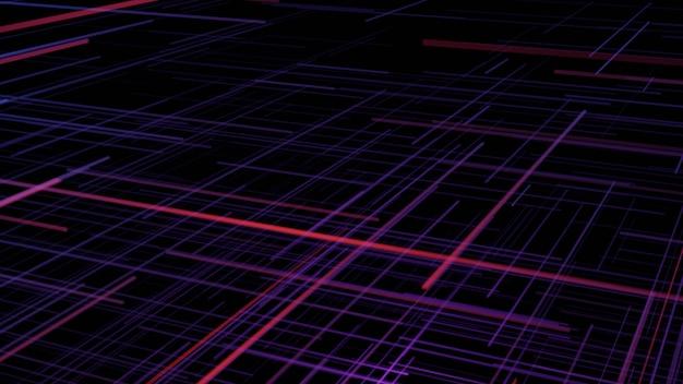 Fundo de cyberpunk de tira de néon