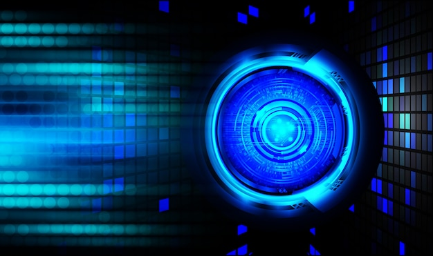 Fundo de cybersecurity de olhos azuis