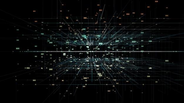 Fundo de dados de rede de tecnologia digital 3d
